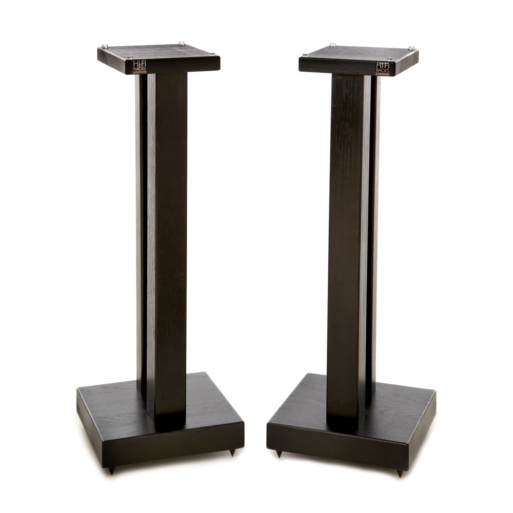Duet Speaker Stands Solid Black Satin Finish