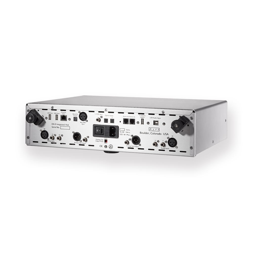 EX-8 Two Channel Integrated Amplifier with adaptable inputs